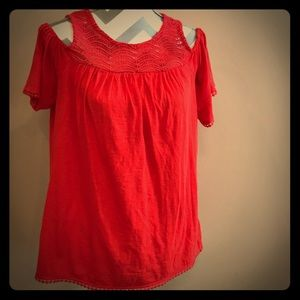 Red Crown and Ivey cold shoulder blouse